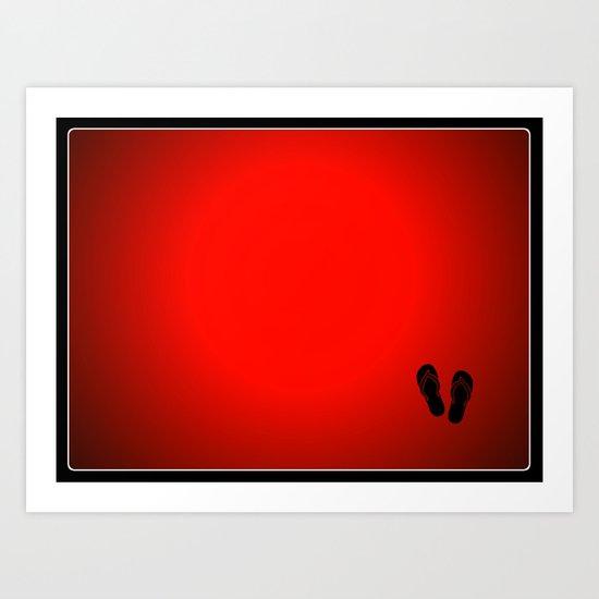 Flips Flops Art Print