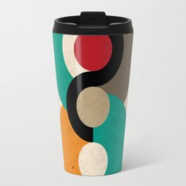 Geometric Scandinavian Art Travel Mug