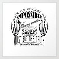 sherlock holmes Art Prints featuring Sherlock Holmes by Leti Mela