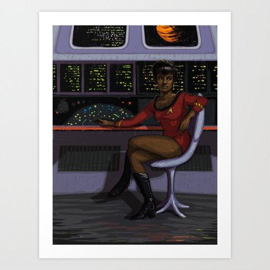Lt. Uhura Art Print