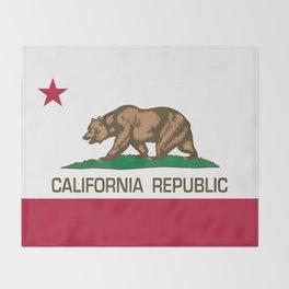 California Republic Flag, High Quality Image Throw Blanket