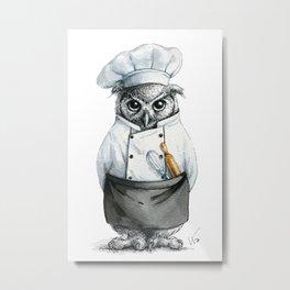 Baker Owl Metal Print