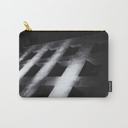 Modern black white architectural building night photography Carry-All Pouch