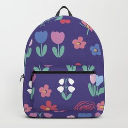 Drawing of spring flowers Backpack