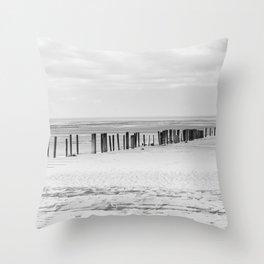 Sand Pillars Throw Pillow