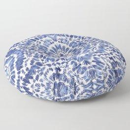 Abstract Indigo Pattern No.1 Floor Pillow