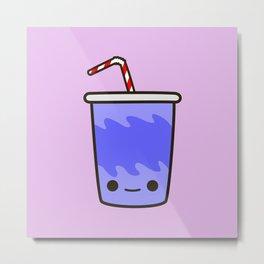 Yummy kawaii soft drink Metal Print