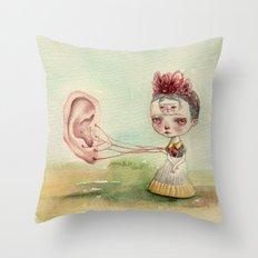 Frida and Gogh's Ear Throw Pillow