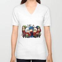 dmmd V-neck T-shirts featuring Dmmd Christmas  by lilbutt
