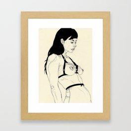 Lovely Lingerie Eins Framed Art Print