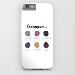 Enneagram 4 iPhone Case