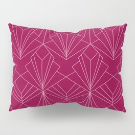 Art Deco in Raspberry Pink Pillow Sham