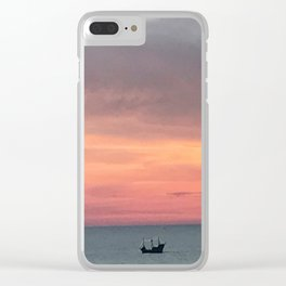 Sunset Treasure Clear iPhone Case
