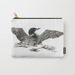 Morning Stretch - Common Loon Carry-All Pouch