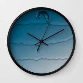 Parakite Cool 1 (wavy lines) Wall Clock