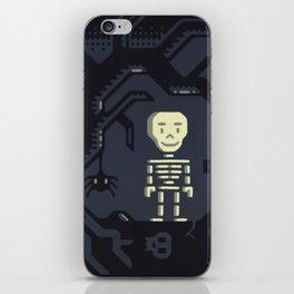 Skeleton boy artwork iPhone Skin