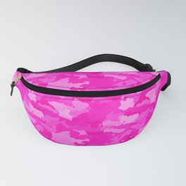 Hot Shocking Neon Pink Girlie Feminine Camo Camouflage Pattern Fanny Pack