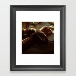 Hands in Light and Shadow Framed Art Print