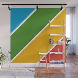 Colorful Diagonal Stripes Wall Mural