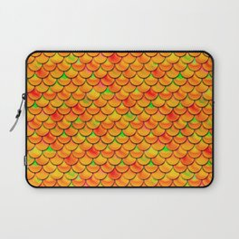 Orange Green Scales Laptop Sleeve