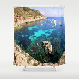 left my heart in sicily Shower Curtain