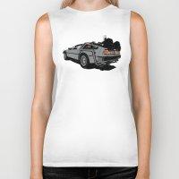 delorean Biker Tanks featuring DeLorean by CranioDsgn