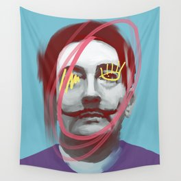 Imaginative Salvador, POP art style, digitally painted Wall Tapestry