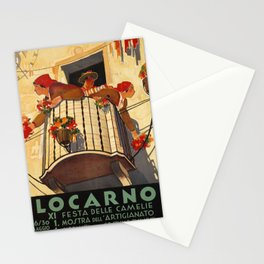 poster locarno xi festa dele camelie Stationery Cards