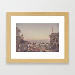 Hollywood Blvd Strawberry Moon Framed Art Print