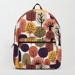 Autumn Trees Pattern Backpack