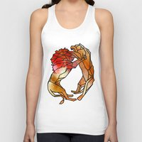 lions Tank Tops featuring Lions by madbiffymorghulis