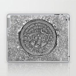 New Orleans Water Meter Louisiana Crescent City NOLA Water Board Metalwork Grey Silver Laptop & iPad Skin