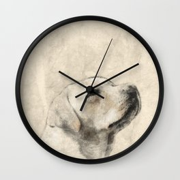 Golden Labrador Wall Clock