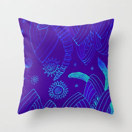 Blue Energy Transformation Throw Pillow