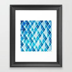 Geo-Ocean Framed Art Print