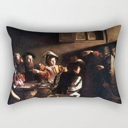 Caravaggio The Calling of Saint Matthew Rectangular Pillow