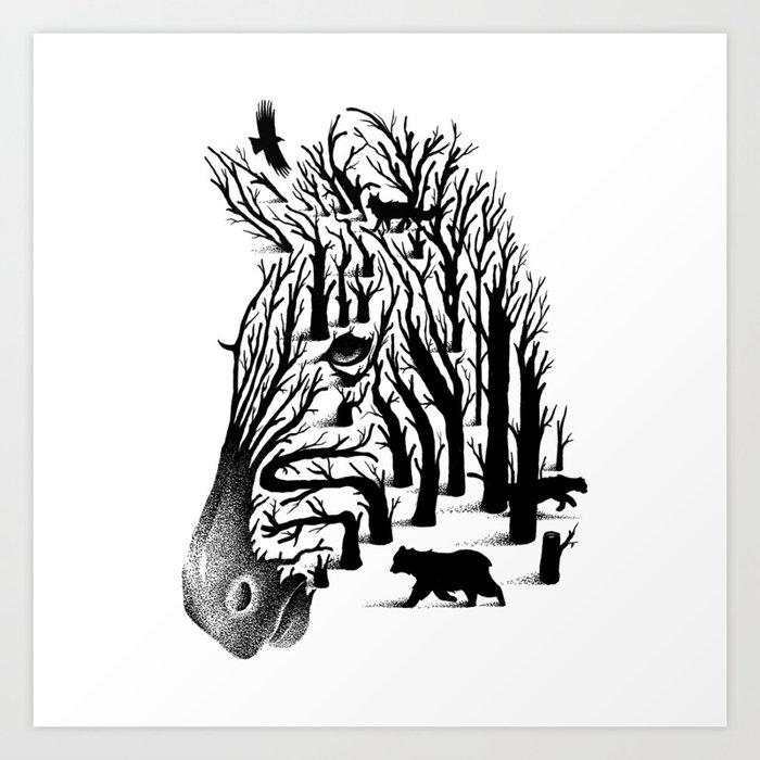 HIDDEN ANIMALS Art Print