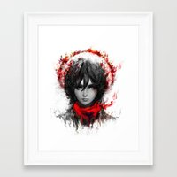 mikasa Framed Art Prints featuring still strong by ururuty