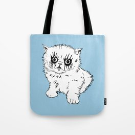 Black Metal Kitty Tote Bag