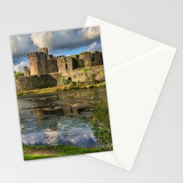 Caerphilly Castle Moat Stationery Cards