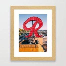 """Rainier """"R"""" Framed Art Print"""