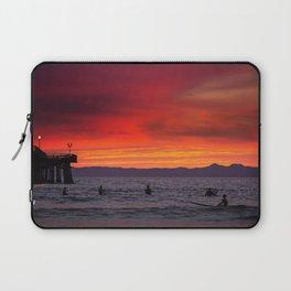 Surfers watching Sunset Laptop Sleeve