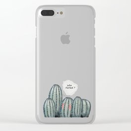 Who Farted? Clear iPhone Case