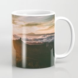 Cloudy sunset over the mountains Coffee Mug
