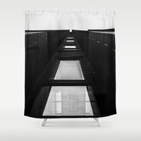 channel Shower Curtains featuring Channel by Paul Vayanos