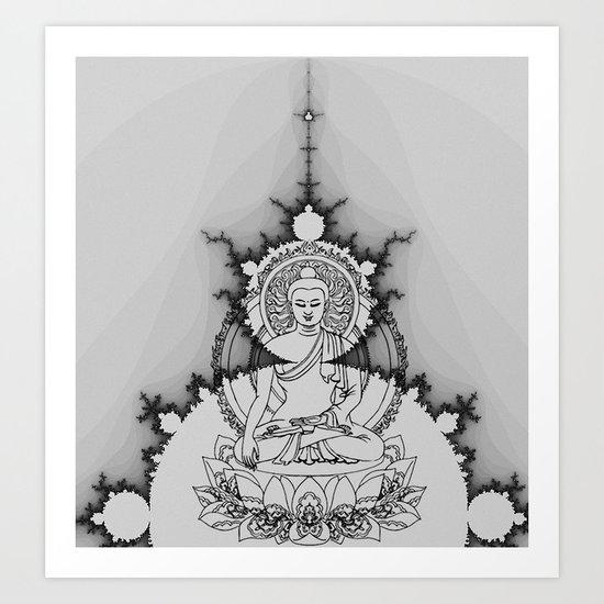 buddha fractal Art Print