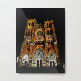 Colorful Amiens cathedral   Metal Print