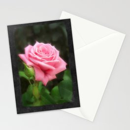 Pink Roses in Anzures 3 Blank P4F0 Stationery Cards