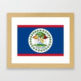 Belize Flag Framed Art Print