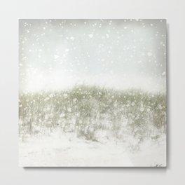 Snow on the Beach Metal Print